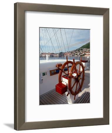 Royal Clipper Helm, Dubrovnik, Croatia