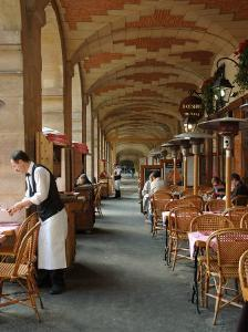 Sidewalk Cafe in the Marais, Paris, France by Lisa S^ Engelbrecht