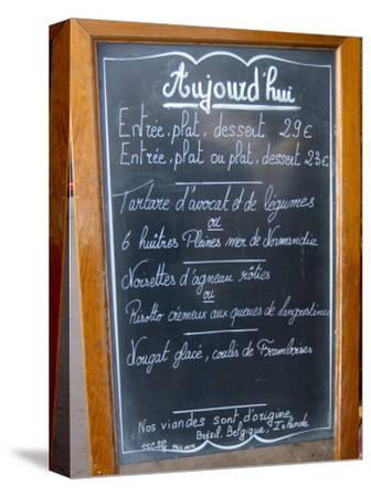 Sidewalk Cafe Menu, Paris, France