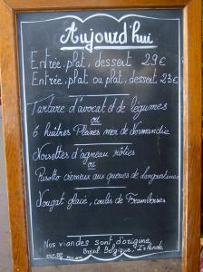 Sidewalk Cafe Menu, Paris, France by Lisa S. Engelbrecht