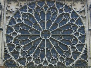 South Rose Window Of Notre Dame Paris France