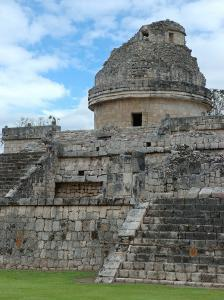 Temple of the Observatory, Chichen Itza, Mexico by Lisa S. Engelbrecht