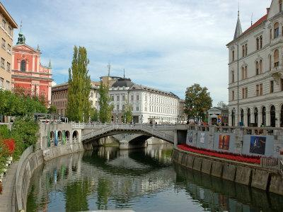 Triple Bridge by Joze Plecnik, Ljubljana, Slovenia