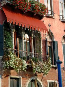 Villa Balcony, Venice, Italy by Lisa S. Engelbrecht