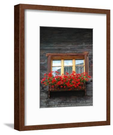 Window Box with Flowers, Zermatt, Switzerland