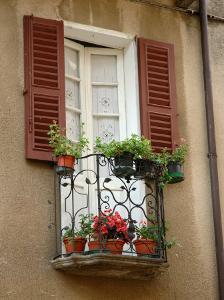 Window Detail, Lake Orta, Orta, Italy by Lisa S. Engelbrecht