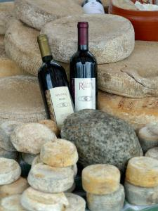 Wine and Cheese at Open-Air Market, Lake Maggiore, Arona, Italy by Lisa S. Engelbrecht