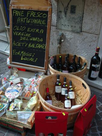 Wine and Cheese Shop, Lake Garda, Bardolino, Italy