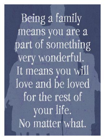 Being A Family - Blue
