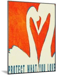 Protect What You Love - Two Swans by Lisa Weedn