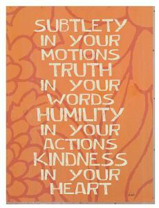 Subtlety In Your Motions by Lisa Weedn