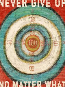 Vintage Dartboard Bullseye by Lisa Weedn