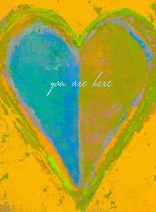 You Are Here - Gold by Lisa Weedn