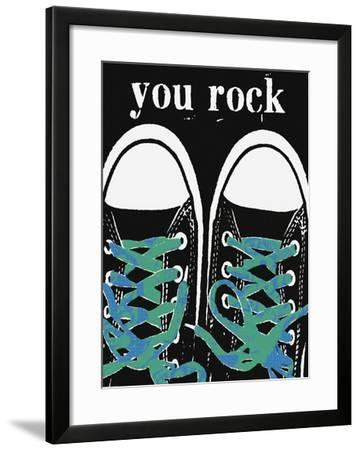 You Rock - Blue Laces by Lisa Weedn