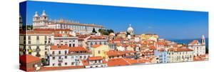 Lisbon Cityscape, View of the Old Town Alfama, Portugal, Panorama