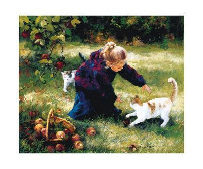 Little Friends with Apples