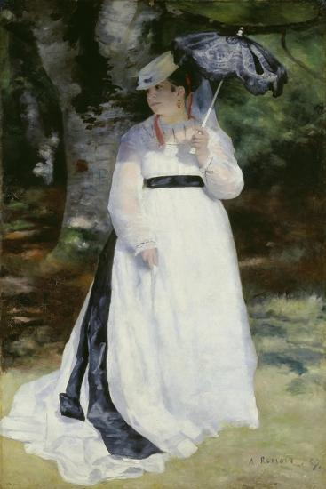 Lise with a Parasol (Lise - La Femme a L'Ombrelle), 1867-Pierre-Auguste Renoir-Giclee Print