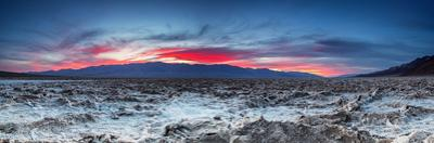 Sunset at the Badwater Basin. by liseykina