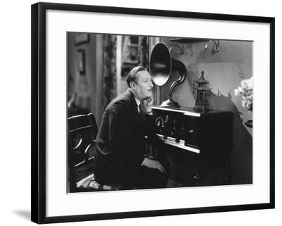 Listening to Gramophone--Framed Photo