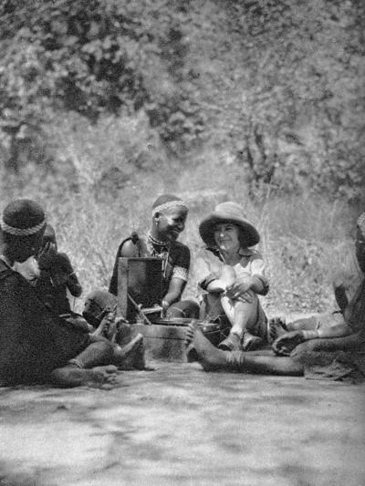 Listening to the Gramophone, Bulawayo to Dett, Rhodesia, C1924-C1925-Thomas A Glover-Giclee Print