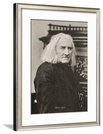 Liszt in His 75th Year--Framed Art Print