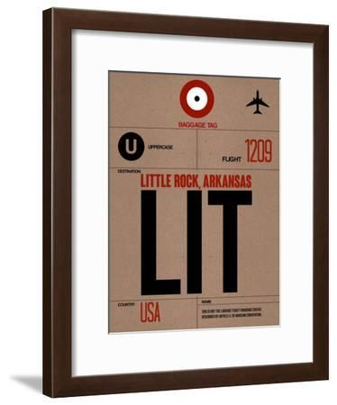 LIT Little Rock Luggage Tag I-NaxArt-Framed Art Print