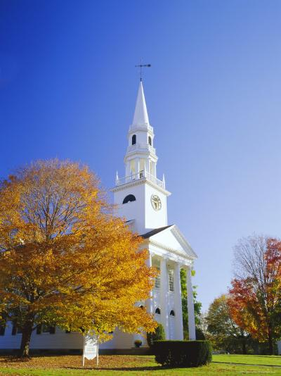 Litchfield Church, Connecticut, New England, USA-Roy Rainford-Photographic Print