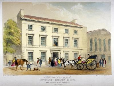 Literary Society Building on Borough Road, Southwark, London, 1840-D McKewan-Giclee Print