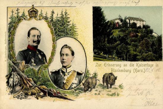 Litho Blankenburg Harz, Erinnerung an Die Kaisertage--Giclee Print
