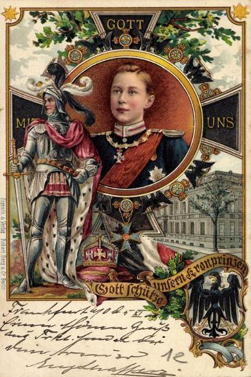 Litho Kronprinz Wilhelm Von Preu?en, Ritter, Krone--Giclee Print