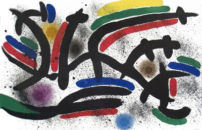 Lithograph I, Number IX-Joan Miro-Serigraph