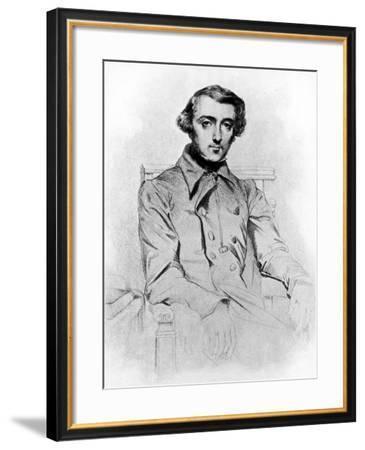 Lithograph of Alexis de Tocqueville--Framed Photographic Print
