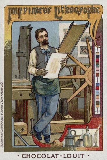 Lithograph Printer--Giclee Print