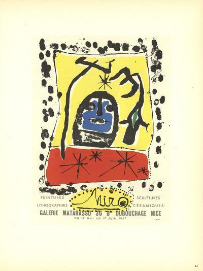 Lithographies-Joan Miro-Collectable Print