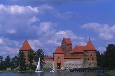 Lithuania, Trakai, Gothic Trakai Island Castle, Situated on Lake Galve--Giclee Print