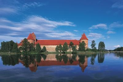 Lithuania, Trakai Historical National Park, Lake Galves and Red Brick Gothic Castle--Giclee Print