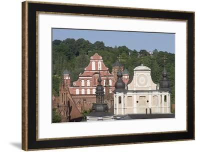 Lithuania, Vilnius, Old Town, St. Michael's Church and St. Bernardine's Church--Framed Giclee Print