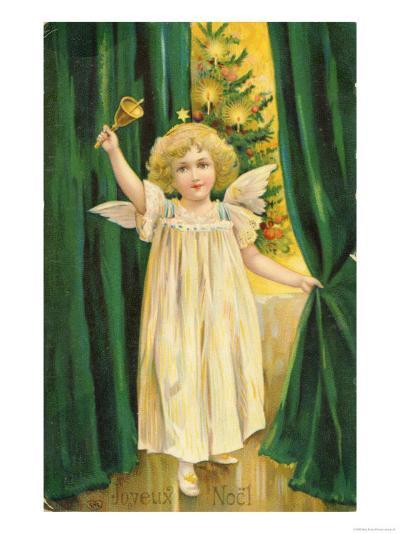 Little Angel with a Little Bell Summons Us to Come to the Christmas Tree--Giclee Print