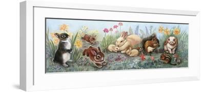Little Animals Border-Judy Mastrangelo-Framed Giclee Print