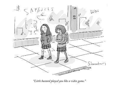 """Little bastard played you like a video game."" - New Yorker Cartoon-Danny Shanahan-Premium Giclee Print"