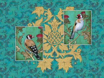 Little Birds with Golden flowers-Maria Rytova-Giclee Print