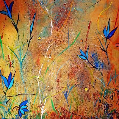 Little Blue Blooms-Ruth Palmer-Art Print