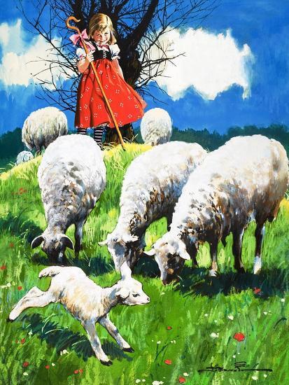 Little Bo Peep-Jesus Blasco-Giclee Print
