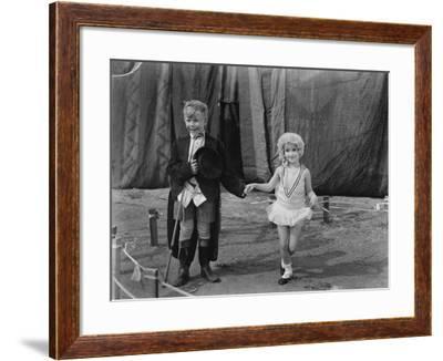 Little Boy and Girl Dressed Up--Framed Photo