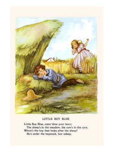 Little Boy Blue-Bird & Haumann-Art Print