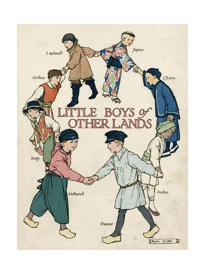 Little Boys of Other Lands in their Native Costumes-Ruth Cobb-Giclee Print