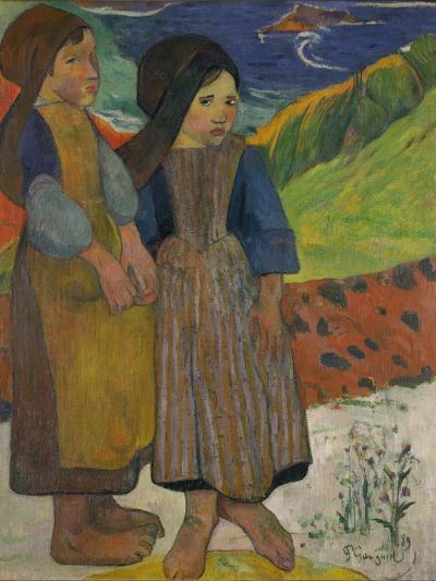 Little Breton Girls by the Sea, 1889-Paul Gauguin-Giclee Print