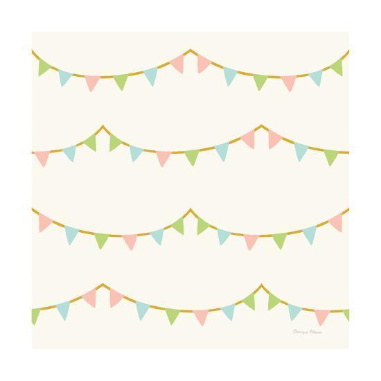 Little Circus Pastel Pattern IV-Cleonique Hilsaca-Art Print
