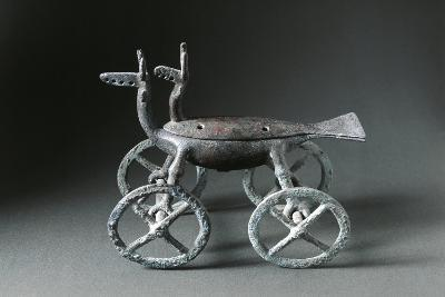 Little Container with Wheels Used to Burn Essences, in the Shape of a Deer--Giclee Print