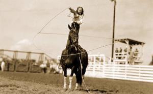 Little Cowgirl Trick Roping